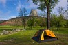 Campsite Devils Tower National Monument.