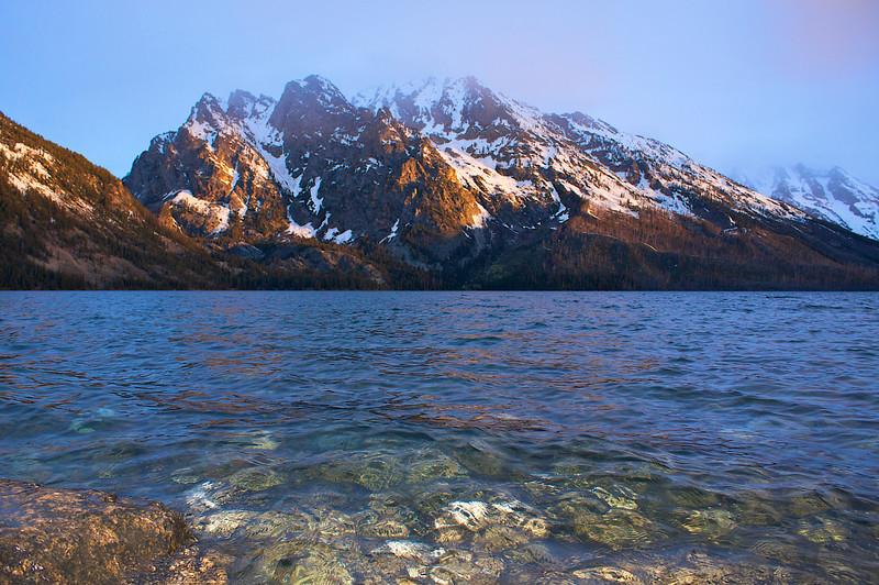 Jenny Lake sunrise Grand Teton National Park