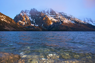Jenny Lake sunrise Grand Teton National Park