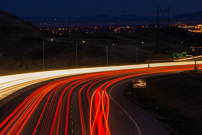 Night Traffic in Lakewood, Colorado