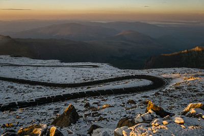 First Light on Mount Evans Road