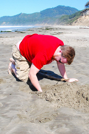 Keep digging hunny, I am sure that you will find a clam.