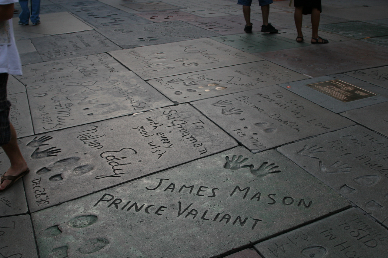 James Mason<br /> Grauman's Chinese Theater<br /> Hollywood, CA