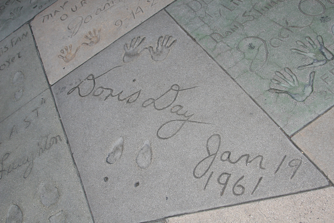 Doris Day<br /> Grauman's Chinese Theater<br /> Hollywood, CA