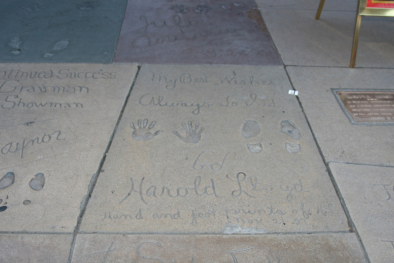 Harold Lloyd<br /> Grauman's Chinese Theater<br /> Hollywood, CA