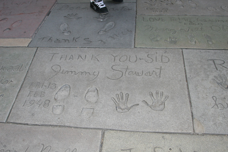 Jimmy Stewart<br /> Grauman's Chinese Theater<br /> Hollywood, CA