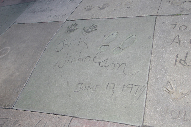 Jack Nicholson<br /> Grauman's Chinese Theater<br /> Hollywood, CA