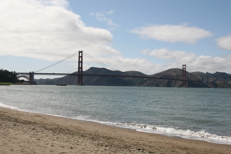 Golden Gate, from the beach.