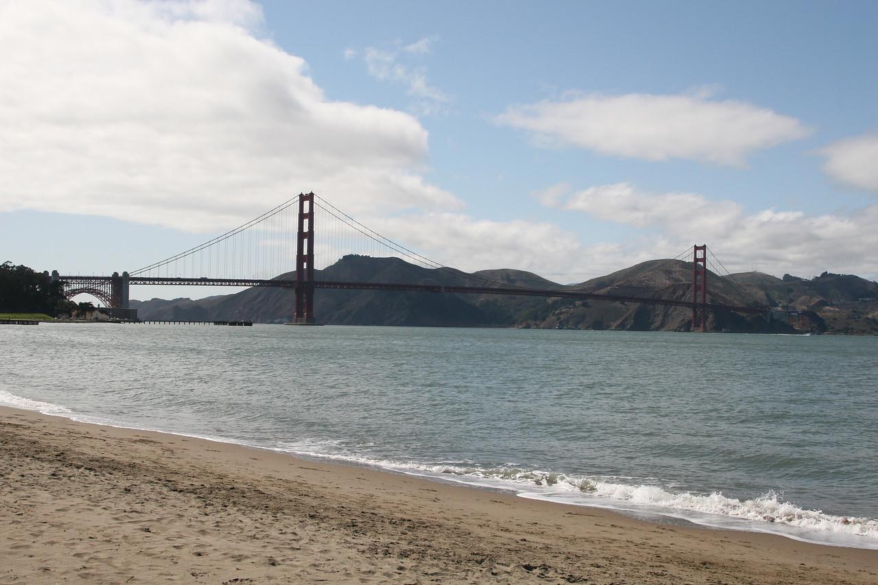 Golden Gate, from the beach.