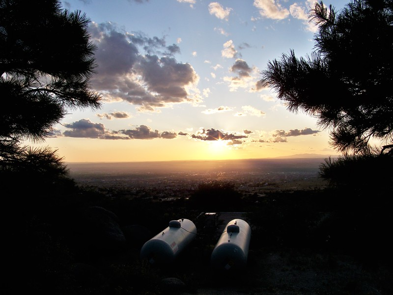 Looking over Albuquerque from the base of Sandia Peak.  http://www.sandiapeak.com/