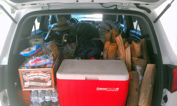 I guess Patti was right when she told me we couldn't fit all our camping gear on the Harley.  :-(