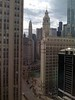 The view out our 19th floor window at the Intercontinental Hotel on Michigan Avenue.