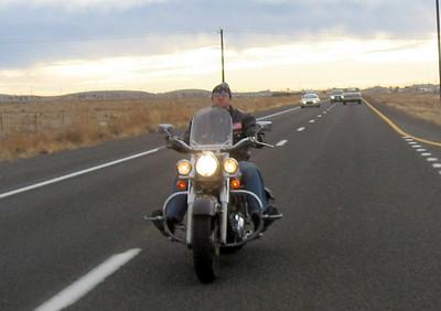 Matt cruising Route 66