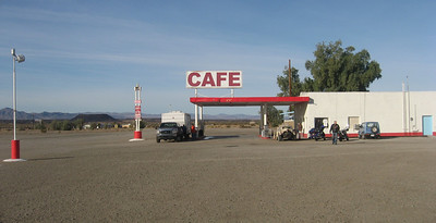 Amboy. You better gas up here because it will be a long time before you see another gas station!