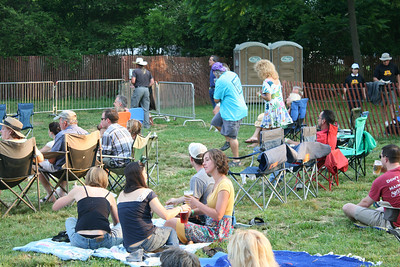 Pisgah Brewing Company - Bluegrass Festival. Guy in blue shirt and his friend danced to every song!