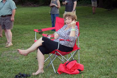 Fran enjoys bluegrass festival