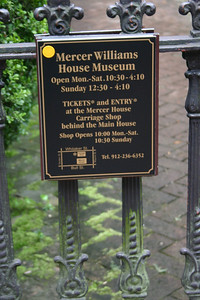 Mercer House Museum - Designed by New York architect John S. Norris for General Hugh W. Mercer, great-grandfather of Johnny Mercer, the songwriter. Construction of the house began in 1860, was interrupted by the American Civil War and finally completed around 1868 by the new owner, John Wilder. In 1969, Jim Williams, one of Savannah's earliest and most dedicated private restorationists, bought the house after a decade of vacancy and restored it.