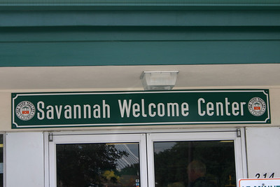 Savannah Welcome Center where we arranged our tour of the city.
