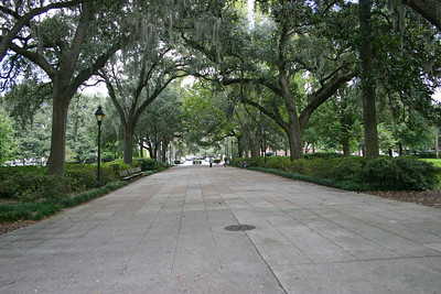 Forsyth Park in historic Savannah, Georgia. In the heart of Historic Savannah are twenty acres laid out by the City in 1851.