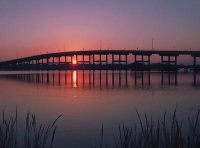 Sunset Over Granada Bridge