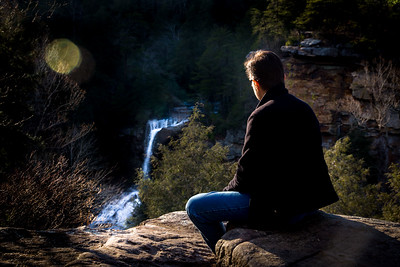 Last Light at Piney Creek Falls II