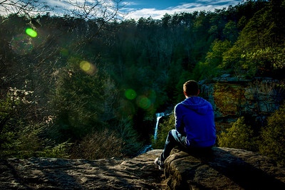 Pensive at Piney Creek Falls