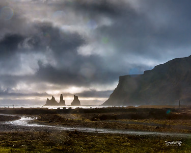 Reynisdrangar - sea stacks at Vík.