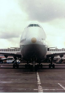 The ANA B-747 that will take me to Japan