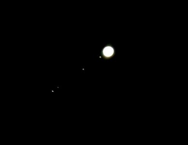 Jupiter and four of it's moons