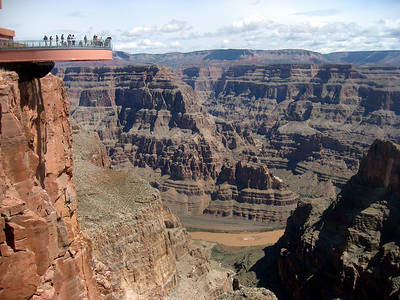 It is 4000 ft down to the Colorado River.