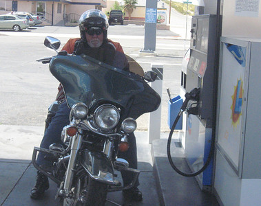 Bagger fueling up for the trip to Laughlin.