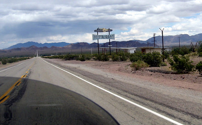 A typical scene along Route 66. Many businesses and small towns died when the new interstates opened rerouting traffic away from these towns.