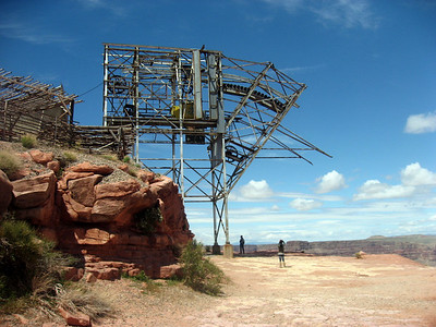 This old tram used to bring ore buckets up from the Colorado River thousands of feet below.