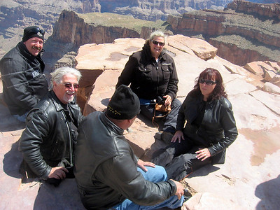 Me, Terry, Lenard, Janet, and Cathy enjoying an incredible view!