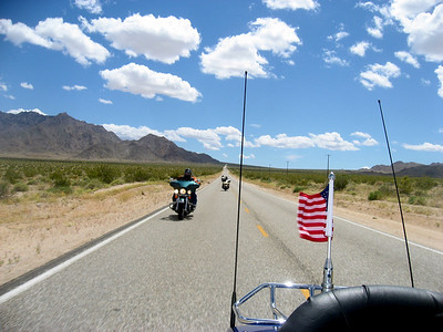 Cruising the old Route 66 on our way to Laughlin, NV