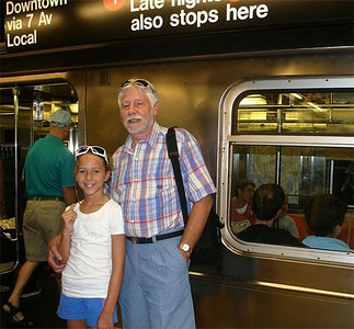 35/Ready to ride the subway. Looks like Don is taking a quick nap!