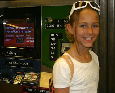 34/Buying passes for her first subway ride