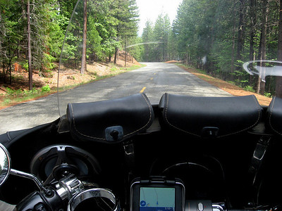 A ride through the Trinity Alps on a rainy day