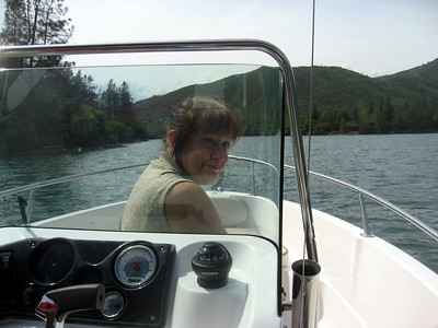 Day 4 My cousins and I rented a boat to cruise Trinity Lake for awhile.