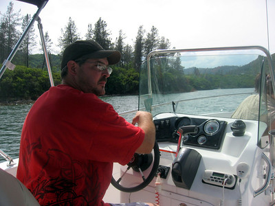 Cousin Sean at the helm