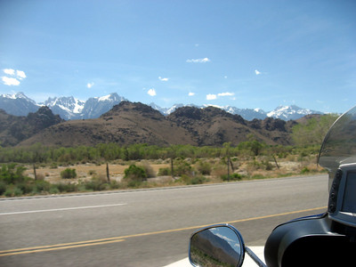 View of the Eastern Sierras along highway 395