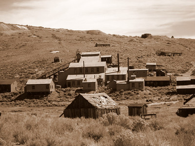 Bodie The stamp mill where they processed the gold ore.