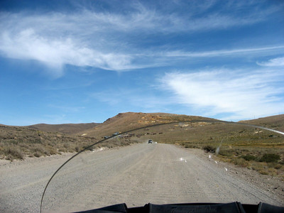 A lot of the road to Bodie is dirt.