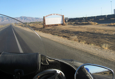 Entering Mojave, CA