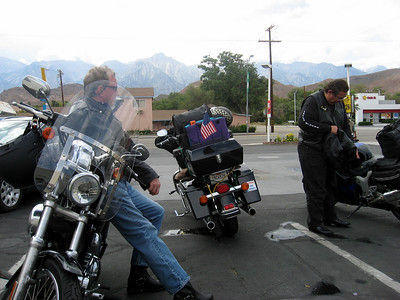 Taking a break in Lone Pine, CA