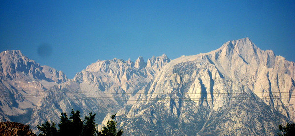 When I took this picture of Mount Whitney Alex, Mike, and Pete were up there climbing to the 14,505 ft summit!