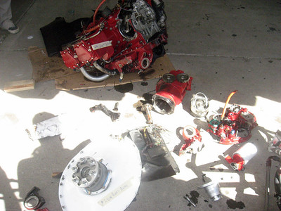 This is what is left of the engine