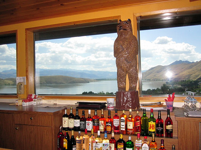 The view from the bar at Topaz Lake Casino
