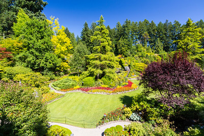 Sunken Garden. Butchart Gardens - Brentwood Bay, BC, Canada