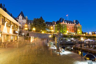 Fairmont Empress Hotel. Downtown Victoria, BC, Canada
